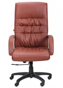 Кресло Орхидея НВ, кожзам коричневый (643-B Hi-Back Brown PU+PVC HL014 Mech)  (031186)