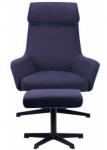Кресло-реклайнер  Lucca тк.темно-синий (515418)