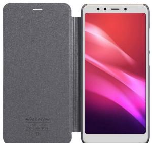 Чехол книжка  Nillkin Xiaomi RedMi 5 Super Sparkle Leather Case Gray (00957)