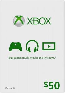 Xbox Live - карта оплаты  $50 (USA)
