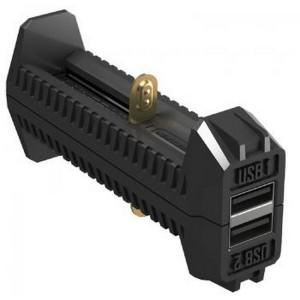 2 в 1 - Зарядное устройство + Power Bank Nitecore F2 (4.2V/5V, 2х1000mA, USB) (6-1260)