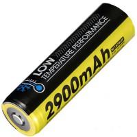Аккумулятор литиевый Li-Ion 18650 Nitecore NL1829LTP 3.6V (2900mAh, -40°С), защищенный  (6-1284)