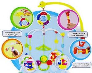 фото Карусель на кроватку Limo Toy 'Цветные сны' (M 1362 U/R/8501-7) #4