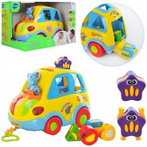 Музична машинка- сортер  Limo Toy' Автошка' (9198UA)