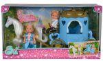 Кукольный набор Simba Эви и Тимми Карета принцессы с конем (5738516)
