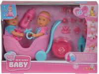 Кукольный набор Simba Мини-пупс NBB Близнецы с коляской (5032367)
