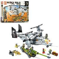 Конструктор Sembo Block Gold 'Военный самолет' (11712)