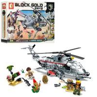 Конструктор Sembo Block Gold 'Военный вертолет' (11688)