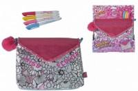 Сумочка Simba Color Me Mine Кутюр Цветы с помпоном 4 маркера 24х30 см (6374184)
