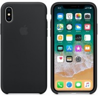 Чехол Apple iPhone X Silicone Case - Black (MQT12)