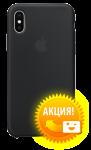 Чехол Apple iPhone X Silicone Case Black (MQT12)