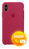 Чехол Apple iPhone X Silicone Case Rose Red (MQT82)