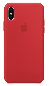 Чехол Apple iPhone X Silicone Case - PRODUCT RED (MQT52)