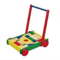 Ходунки-каталка Viga Toys 'Тележка с кубиками '(50306B)