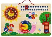 Развивающая игрушка Viga Toys 'Календарь и Часы'(50380)