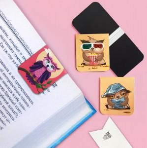 фото Набор магнитных закладок 'Совушка на ветке' (2 шт.) #2