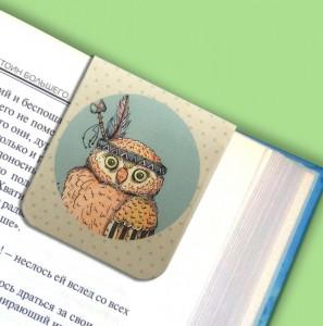 фото Набор магнитных закладок 'Гламурные совы' (2 шт.) #7