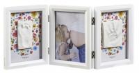 Подарок Тройная рамка со слепком Baby Art  'Белая двухсторонняя ' (3601092500)