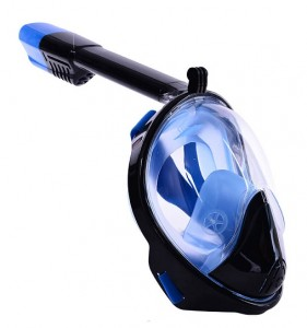 Маска для подводного плавания JUST Breath Pro Diving Mask L/XL Black/Blue (JBRP-LXL-BL)