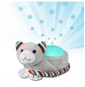 Мягкая игрушка звездный проектор ночник Zazu КІКІ  'Котик' (ZA-KIKI-01)