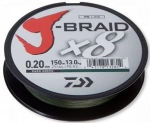 Шнур Daiwa J-Braid X8 0,10mm 150m Dark Green (12751-010)