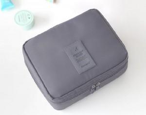 Подарок Органайзер для косметики  Multi Pouch  'Travel' серый (353)