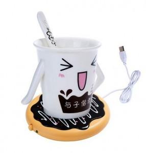 Подарок USB подставка с подогревом для чашки 'Пончик' (344)
