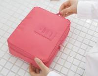 Подарок Органайзер для косметики  Multi Pouch  'Travel' розовый (354)