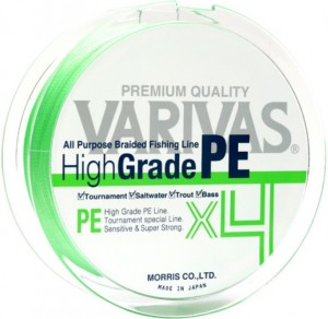 Шнур Varivas High Grade PE X4 Flash Green150m #0,6 (РБ-713897)