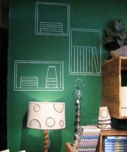 фото Грифельная наклейка с мелками Green (45х200 см) (449) #2