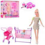 Кукла Defa Lucy беременная с младенцем (8363)