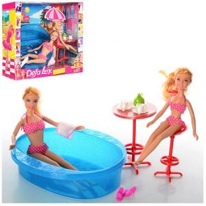 Кукла Defa Lucy с сестрой и бассейном (8255)