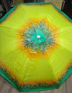 фото Комплект: Зонт пляжный желтый 1.8 м с наклоном, Anti-UV, и Винт крепежный SS-Z-1 #8