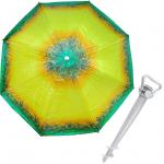 Комплект: Зонт пляжный желтый 1.8 м с наклоном, Anti-UV, и Винт крепежный SS-Z-1