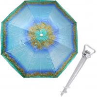 Комплект: Зонт пляжный голубой 1.8 м с наклоном, Anti-UV, и Винт крепежный SS-Z-1