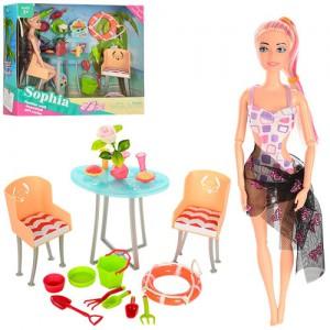Кукла шарнирная  с мебелью (JX100-69)