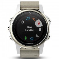 Смарт-часы Garmin Fenix 5S Sapphire - Champagne with grey suede band (010-01685-13)