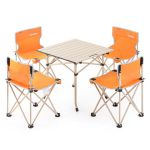 Набор кемпинговой мебели Naturehike Foldabe Table & Chair Set (5 шт)  оранжевый (NH17Z002-Z)