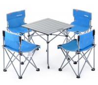 Набор кемпинговой мебели Naturehike Foldabe Table & Chair Set (5 шт) синий  (NH17Z002-Z)