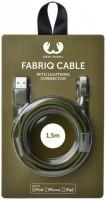 Кабель Fresh 'N Rebel Fabriq Lightning Cable 1,5m Army (2LCF150AR)