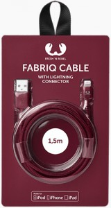фото Кабель Fresh 'N Rebel Fabriq Lightning Cable 1,5m Ruby (2LCF150RU) #2