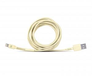 фото Кабель Fresh 'N Rebel Fabriq Lightning Cable 3m Buttercup (2LCF300BC) #3