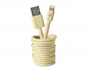 фото Кабель Fresh 'N Rebel Fabriq Lightning Cable 3m Buttercup (2LCF300BC) #4