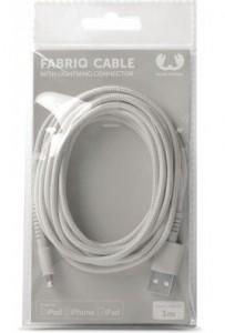 фото Кабель Fresh 'N Rebel Fabriq Lightning Cable 3m Cloud (2LCF300CL) #3