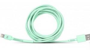 фото Кабель Fresh 'N Rebel Fabriq Lightning Cable 3m Peppermint (2LCF300PT) #3