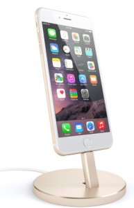 Подарок Подставка Satechi Aluminum Desktop Charging Stand Gold for iPhone (ST-AIPDG)