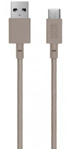 Кабель переходник Native Union Belt Cable USB-A to USB-C Taupe (3 m) (BELT-KV-AC-TAU-3)