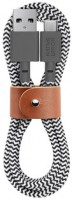 Кабель переходник Native Union Belt Cable USB-A to USB-C Zebra (1.2 m) (BELT-KV-AC-ZEB)