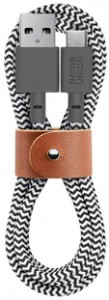 Кабель переходник Native Union Belt Cable USB-A to USB-C Zebra (1.2 m) (BELT-KV-AC-ZEB)