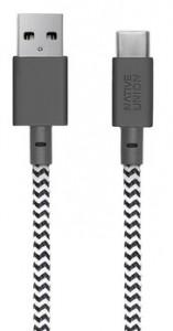 фото Кабель переходник Native Union Belt Cable USB-A to USB-C Zebra (1.2 m) (BELT-KV-AC-ZEB) #2